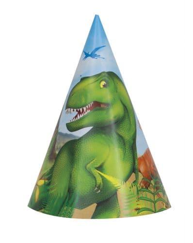 Dinosaur Party Hats 8's