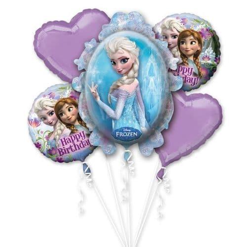 Disney Frozen Birthday Foil Balloon Bouquets