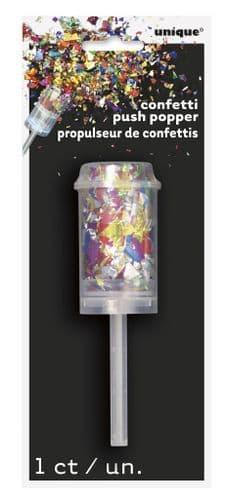 Foil Confetti Push Popper Multi Colour