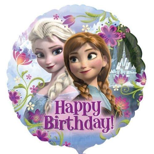 Frozen Happy Birthday Standard Foil Balloons