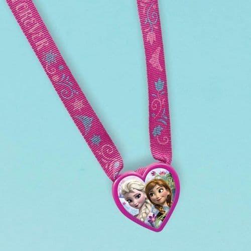 Frozen Heart Charm Necklaces - 61cm l x 3.8cm 12's