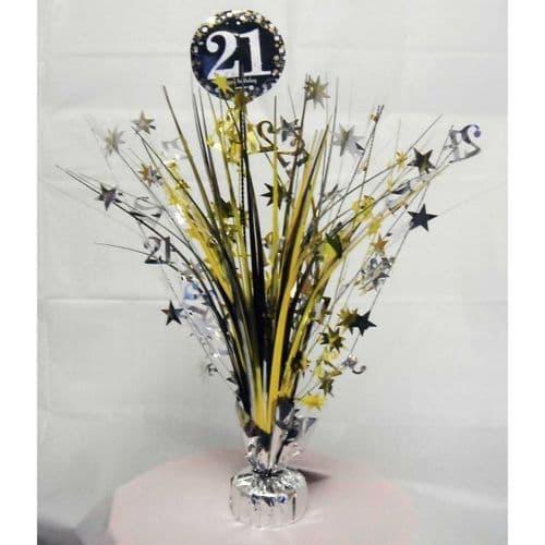 Gold Celebration 21st Centrepiece Spray 33cm