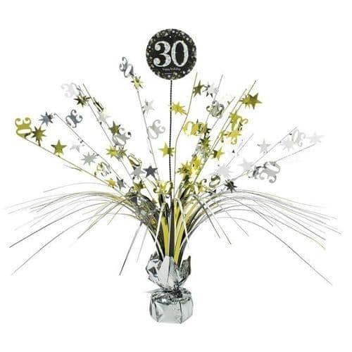Gold Celebration 30th Centrepiece Spray 33cm