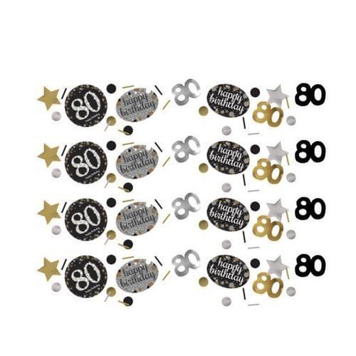 Gold Celebration 80th Confetti 34g