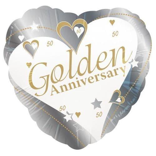 Golden Anniversary Foil Balloon