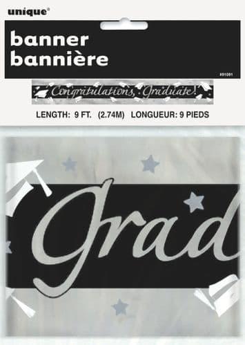 Grad Foil Banner 9Ft
