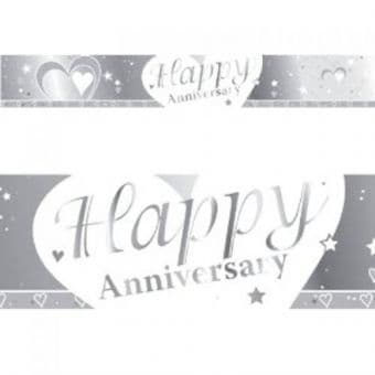 Happy Anniversary Foil Banner 9ft