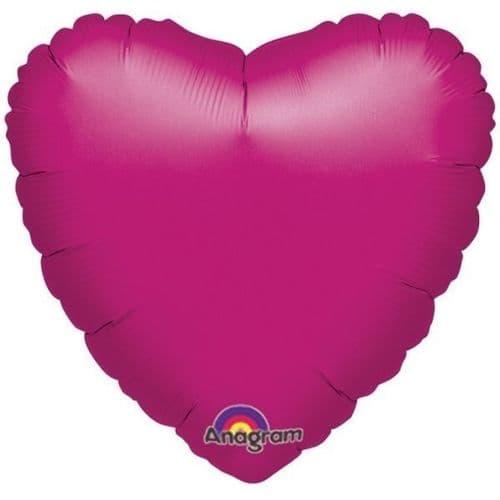 Heart Fuchsia Foil Balloon