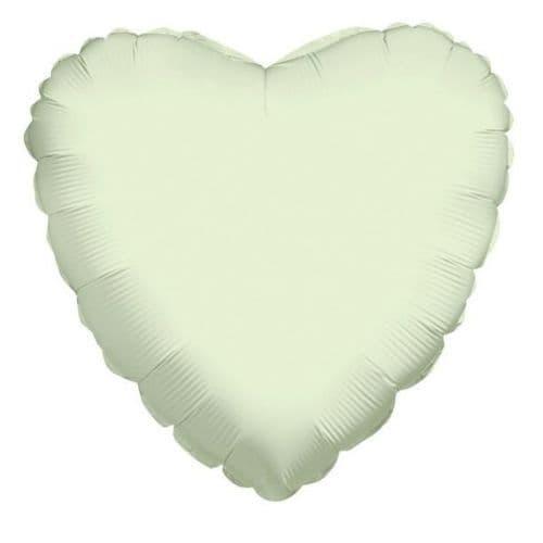 Heart White Foil Balloon