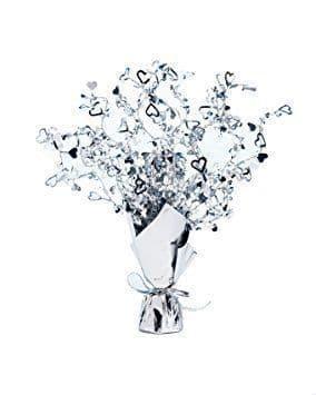 Hearts Foil Spray Silver Centrepiece