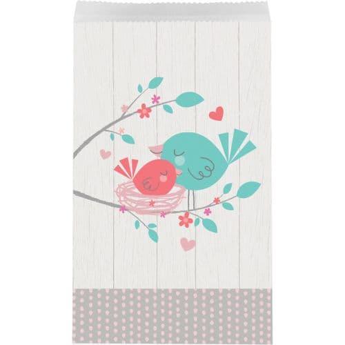 Hello Baby Girl Medium Paper Treat Bags 10's
