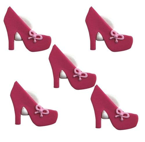 High Heel Shoe Sugarcraft Toppers Pink