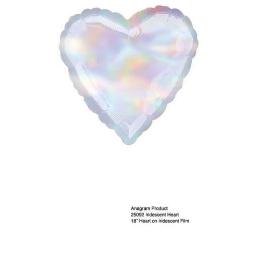 Iridescent Heart Foil Balloon