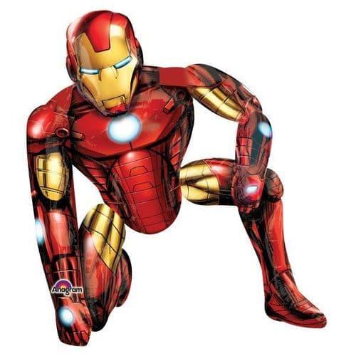 """Iron Man AirWalker Foil Balloons 37"""" x 46"""""""