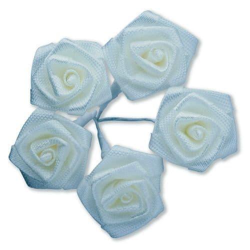 Ivory Ribbon Roses/Medium - dia. 20mm - packed in 144's