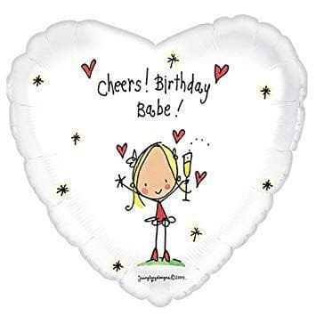 Juicy Lucy Birthday Babe Foil Balloon