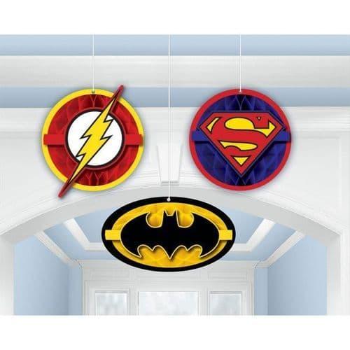 Justice League Honeycomb Decorations 3's