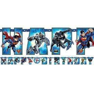 Justice League Jumbo Letter Banners 3.2m x 30cm