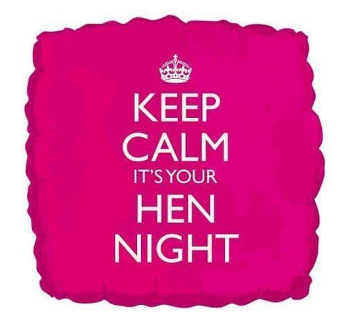 Keep Calm Hen Night Foil Balloon