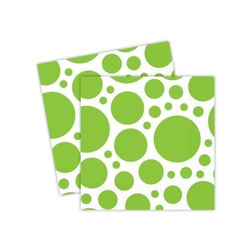 Kiwi Green Dots Luncheon Napkins 33cm/10