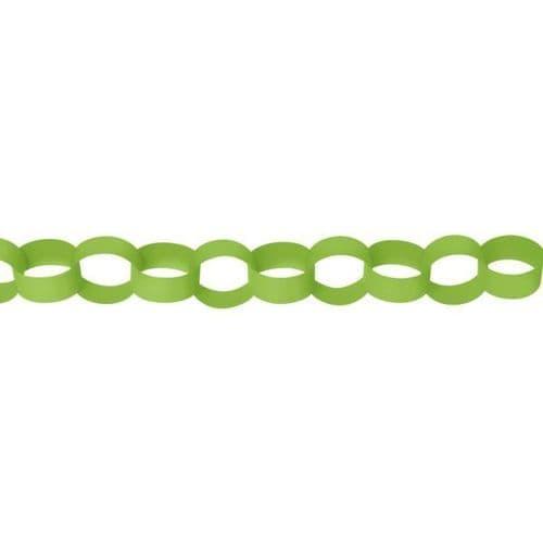 Kiwi Green Paper Chains Link Garlands 3.9m