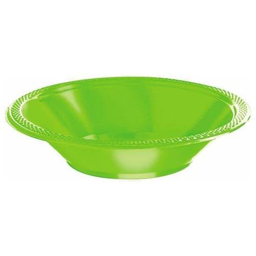 Kiwi Green Plastic Bowls 355ml 20 per pack.