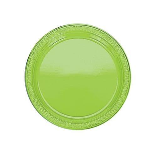 Kiwi Green Plastic Plates - 17.7cm  20 per pack.