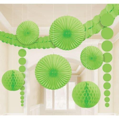 Kiwi Green Room Kit Decorations