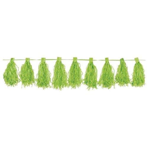 Kiwi Green Tassel Garlands 3m