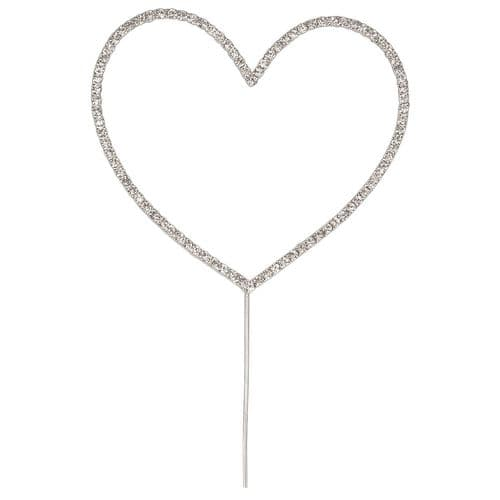 Large Diamante Heart on Stem