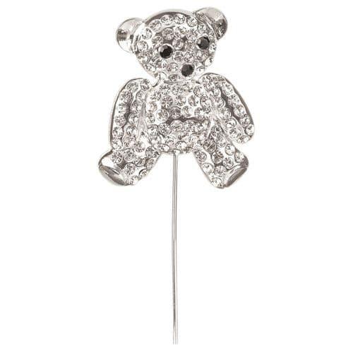 Large Diamante Teddy Bear on Stem