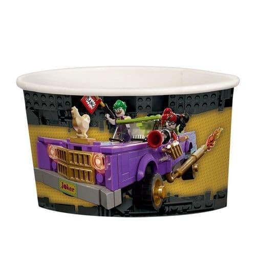 LEGO Batman Movie Paper Treat/Ice Cream Cups 251ml 8's