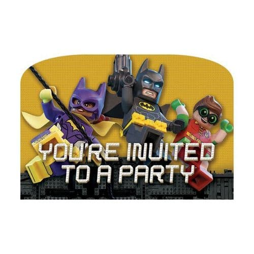 LEGO Batman Movie Postcard Invitations 8's