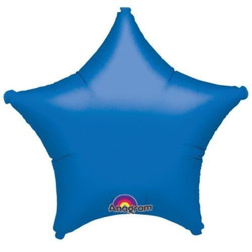 Metallic Blue Star Foil Balloon