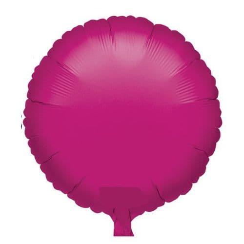 Metallic Fuchsia Circle Foil Balloon