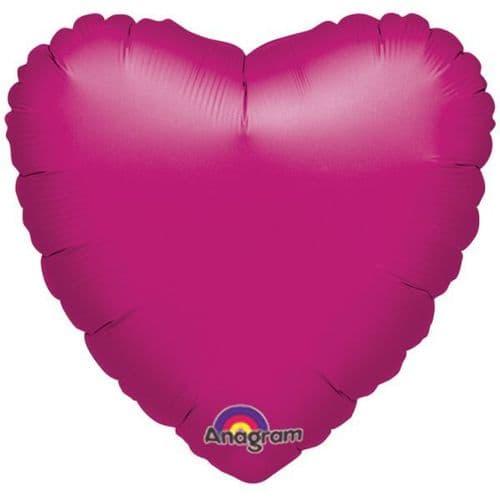 Metallic Fuchsia Heart Foil Balloon