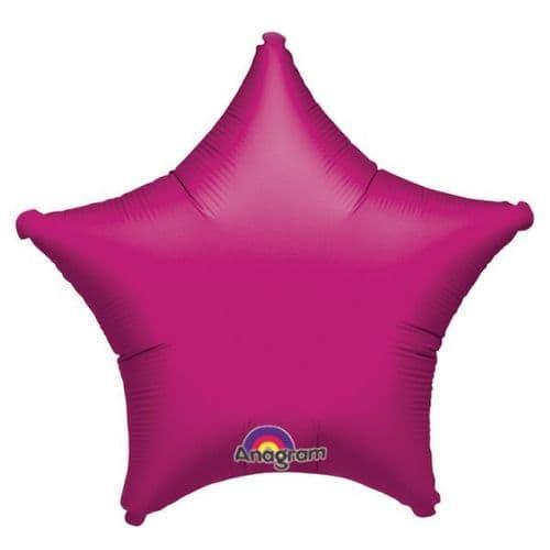 Metallic Fuchsia Star Foil Balloon