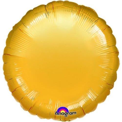 Metallic Gold Circle Foil Balloon
