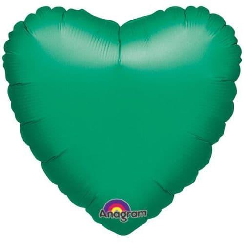 Metallic Green Heart Foil Balloon