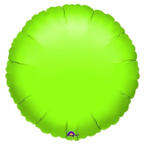 Metallic Lime Green Circle Foil Balloon -