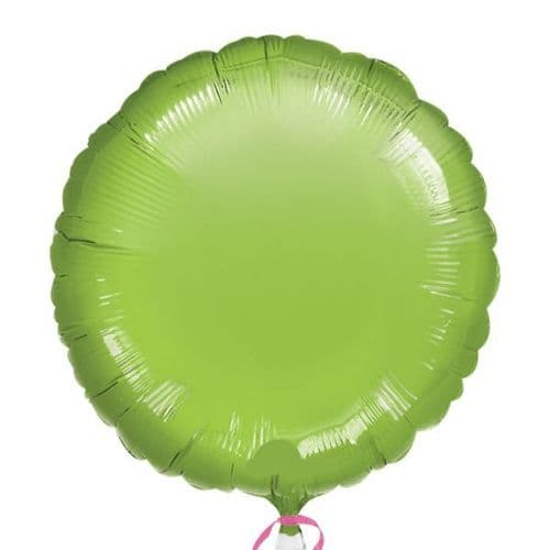 Metallic Lime Green Circle Foil Balloon