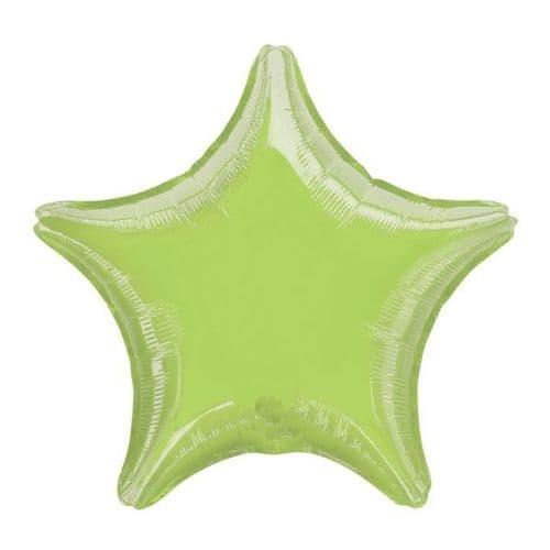 Metallic Lime Green Star Foil Balloon