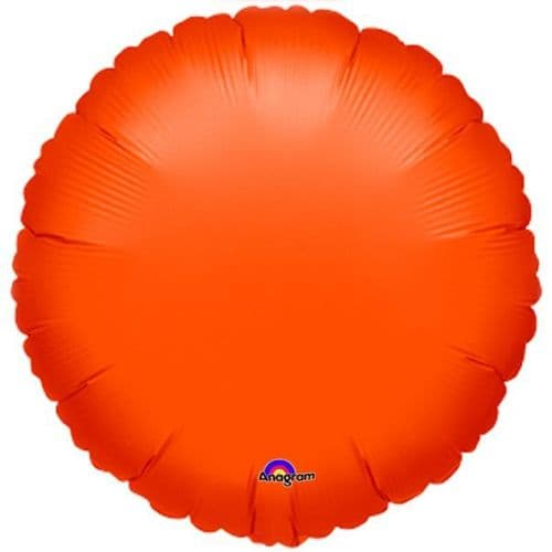 Metallic Orange Circle Foil Balloon -