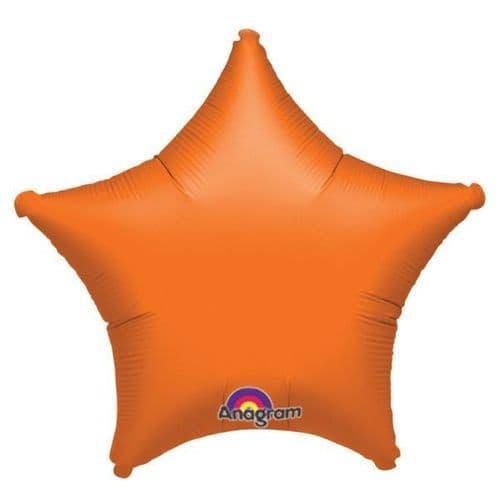 Metallic Orange Star Foil Balloon