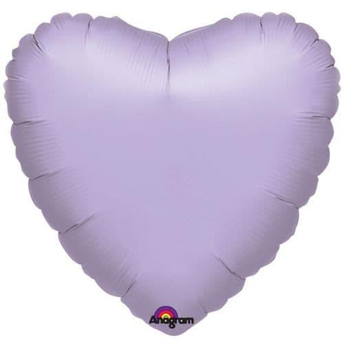 Metallic Pastel Lilac Heart Foil Balloon