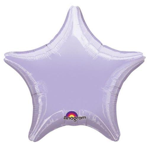 Metallic Pastel Lilac Star Foil Balloon