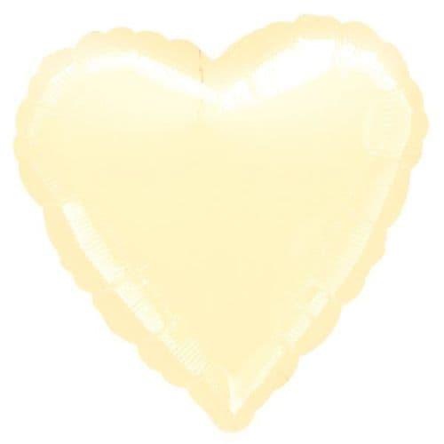 Metallic Pearl Ivory Heart Foil Balloon