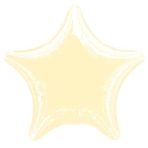 Metallic Pearl Ivory Star Foil Balloon