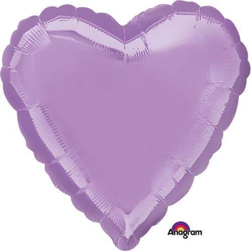 Metallic Pearl Lavender Heart Foil Balloon
