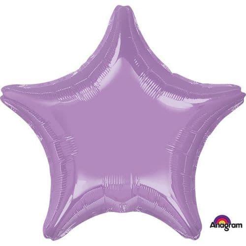 Metallic Pearl Lavender Star Foil Balloon